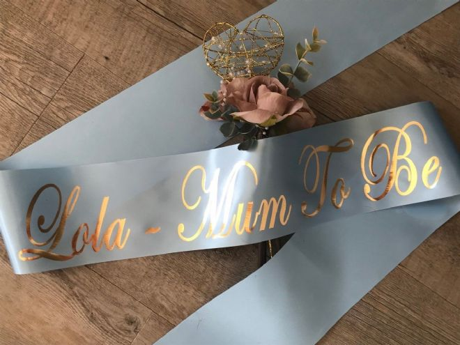 Mum To Be Personalised Sash